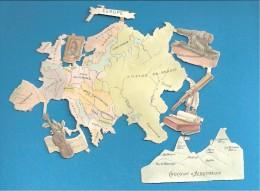 Planche Découpis Chocolat D´Aiguebelle  L'Europe Carte Géographique Longue Vue  Violon - Altri