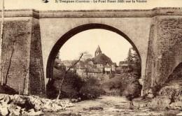 19 TREIGNAC Le Pont Finot Sur La Vézère - Treignac