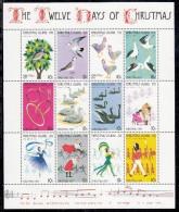 "Christmas Island MNH Scott #86 Sheet Of 12 Stamps Depicting ""Twelve Days Of Christmas"" - Christmas 1977 - Christmas Island"