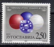 Yugoslavia,100 Years Of Serbian Chemical Society 1997.,MNH - 1992-2003 République Fédérale De Yougoslavie