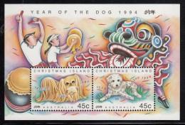Christmas Island MNH Scott #359b Souvenir Sheet Year Of The Dog - Christmas Island