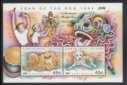 Christmas Island MNH Scott #359e Souvenir Sheet Year Of The Dog - Canberra Stamp Show Overprint - Christmas Island