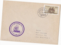 COVER ´ ANN CHRISTINE´ Historic SAILING SHIP Cachet Hamburg GERMANY Stamps - Ships