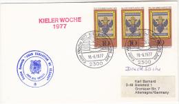 COVER ´ JUAN SEBASTIAN DE ELCANO´ Spanish Navy SAILING SHIP  Cachet KIELER WOCHE Kiel GERMANY Stamps Spain - Ships