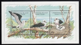 Christmas Island MNH Scott #274 Souvenir Sheet Of 3 Abbott's Booby - Christmas Island
