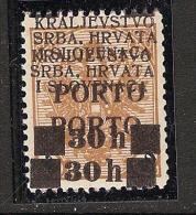 Jugoslawien / Yugoslavia / Bosnia - Mi.Porto 20DD - MNH / ** 1919 Double Overprint SIGNED - Portomarken