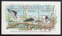 Christmas Island MNH Scott #274d Souvenir Sheet Of 3 Abbott´s Booby - World Stamp Exhibition Overprint - Christmas Island
