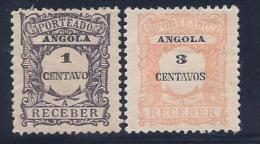 Angola, Scott # J22,J24 Mint Hinged Postage Due, 1921, Small Defects - Angola