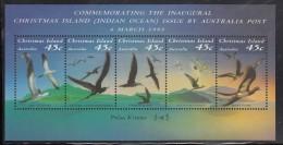 Christmas Island MNH Scott #349f Souvenir Sheet Of 5 Seabirds - Christmas Island