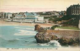 64 - BIARRITZ - Le Casino Et Le Grand Hôtel à Marée Montante - Biarritz