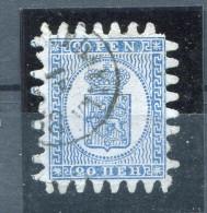 Finland/Russia 1866-74 Serpentine Roulette 20p Blue Sc 9 FA 8  Used - 1856-1917 Russian Government