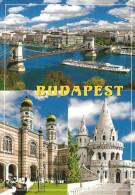 JUDAICA JEW JEWISH DOHANY STREET SYNAGOGUE SZECHENYI CHAIN BRIDGE FISHERMAN´S BASTION BUDAPEST SHIP * HPK 001 * Hungary - Judaísmo