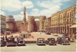 Avila Spain, Plaza De Santa Teresa De Jesus, Street Scene, Auto, C1940s Vintage Postcard - Ávila