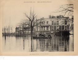 ESTAMPE  INONDATIONS 1910   ISSY-LES-MOULINEAUX  Le Rond-Point Victor Hugo - Estampes & Gravures