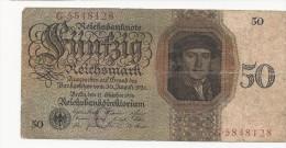 50 Reichsmark 1924 Ro. 170 - [ 3] 1918-1933 : Repubblica  Di Weimar