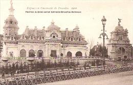 """EXPOSITION UNIVERSELLE DE BRUXELLES 1910-""""PAVILLON DU CHIEN VERT ET ENTRÉE DE BRUX.KERMESSE""""-NON CIRCULEE-GECKO. - Exposiciones Universales"""