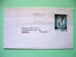 Ireland 1975 Cover To Holland - Holycross Abbey - European Architectural Heritage - Christmas Slogan - 1949-... Republic Of Ireland