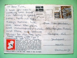 "Ireland 1977 Postcard ""Bray - Seaside Resort - Tourism"" To England - Manuscript - National Library - 1949-... Republic Of Ireland"