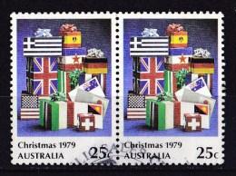 Australia 1979 Christmas 25c Used Pair - Used Stamps