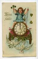 CPA  Fantaisie : Bonne Année  Avec Ange , Horloge  Et Colombes   VOIR  DESCRIPTIF   §§§ - Fantasia