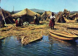 """- CPSM   -  Islas flotantes de los """" Uros """" en el Lago Titicaca - 661"""