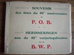 BRUXELLES:CARNET DE 24 PHOTOS DU SOUVENIR DES FETES DU 40 EME ANNIVERSAIRE DU P.OB EN 1925-LE DEBUT DU PARTI SOCIALISTE