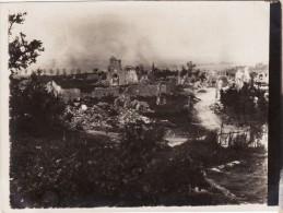 Photo Mai 1918 BRIMONT (près Bourgogne) - Une Vue Du Village En Ruine (A78, Ww1, Wk1) - France