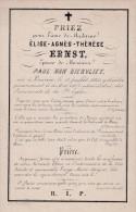DOODSPRENTJE-ADEL-NOBLESSE-MADAME-ELISE-AGNES-ERNST-VAN-BIERVLIET-LEUVEN -1840+1863-LITHO-P.BARELLA-VOYEZ-2 SCANS-TOP ! - Images Religieuses
