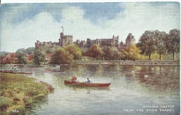 Windsor Castle From The River Thames Valentine's Art Colour Postcard From Water Colour By Brian Gerald  Both Sides Shown - Windsor Castle