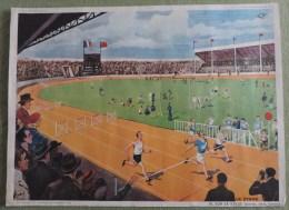 Affiche Scolaire Collection Rossingol - Montmorillon  - N�9: AU ZOO et N�10: SUR LE STADE - Tableau D�Elocution C.E.2e