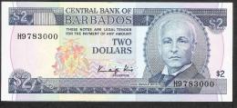 BARBADOS  P36  2  DOLLARS   1986    UNC. - Barbados