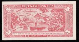 VIETNAM  NLP  5 DONG  1964-1966 ARMY PROPAGANDA   UNC - Viêt-Nam