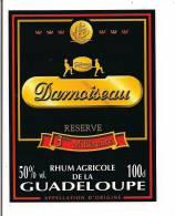 Etiquette  RHUM  DAMOISEAU 50 °agricole  - Réserve 3ème Millénaire -  GUADELOUPE -- - Rhum