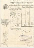 ACTE DE 1905 - FILIGRANE  PAPIER TIMBRE FRANCE 1902 - T - Cachets Généralité