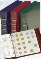 Blau NUMIS Classic,Kassette+5 Münzhüllen Neu 20€ Für Beliebige Münzen/EURO-Münz-Set 1C.-2€ Mit Verschiedenen Münzblätter - Matériel