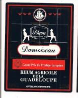 Etiquette  RHUM  DAMOISEAU 50% 100 Cl Agricole  - Grand Prix Du Presige Européen -  GUADELOUPE -- - Rhum