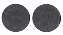 BELGIQUE / PAYS BAS - HEMIKSEM HEMIXEM - CORRECTIE HUIS ST BERNARD 1823 20 CENTS MONNAIE PENITENTIERE PRISON - Monetary / Of Necessity