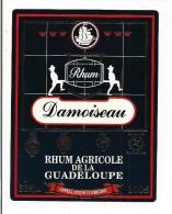 Etiquette  RHUM  DAMOISEAU 50 °agricole  - Lauriers D´Or Européens 1995 -  GUADELOUPE -- - Rhum