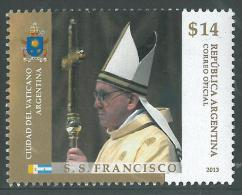 ARGENTINA 2013 MNH STAMP 14$ Pope Francis - Unused Stamps