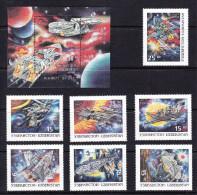 UZB-51UZBEKISTAN – 1997 SPACE - Fantasie Vignetten
