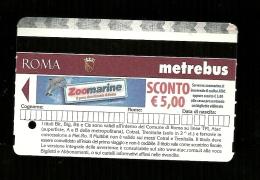 Biglietto Autobus e Metro Italia - Roma tipo 6