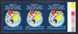 UZB-    41    UZBEKISTAN – 2002 PROTECT THE OZONE LAYER. STARTING PRICE FOR THE ONE SET