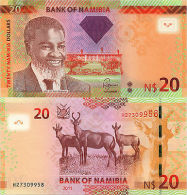 Namibia 20 Dollars (2011) - Parliament Building/Red Hartebeest - Namibia