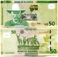 Captain Hendrik Witbooi NAMIBIA 50 DOLLARS P-NEW 2012 UNC - Namibia