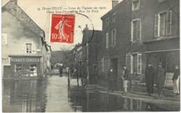 IS SUR TILLE ..... CRUE DE L IGNON EN 1910 PLACE DURAND ET RUE DU PONT