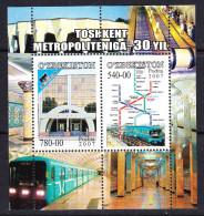 UZB-37UZBEKISTAN – 2007 METROPOLITAN 30TH - Trains