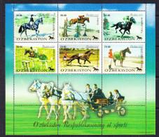 UZB-34UZBEKISTAN – 1999 HORSES SPORTS - Horses