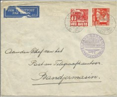 NEDERLANDS-INDIE 1935  Brief Met 1ste Postvlucht Java-Borneo, Stempels Batavia En Bandjermasin - Netherlands Indies