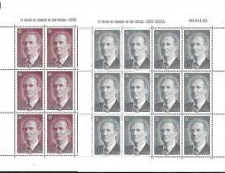 1996-ED. 3463y64- MINIPLIEGOS 54y55-RETRATO DE D.JUAN CARLOS I-NUEVO - Blocs & Hojas