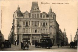 BRABANT 1 CP BrusseL    Place Surlet De Chokier  Tram à Chevaux  Charette à Chien - Ohne Zuordnung